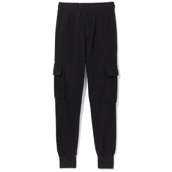 Master The Basics Boys Black Cargo Fleece Jogger - Citi Trends Boys - Back