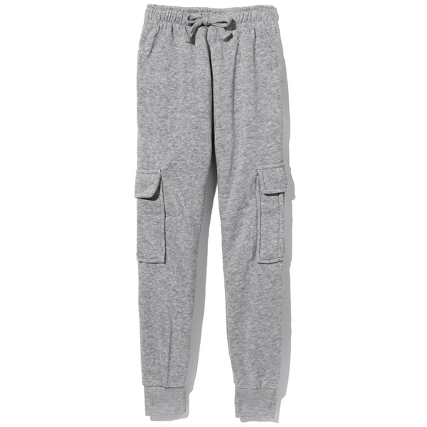 Master The Basics Boys Heather Grey Cargo Fleece Jogger - Citi Trends Boys - Front