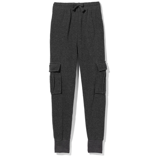 Master The Basics Boys Charcoal Cargo Fleece Jogger - Citi Trends Boys - Front