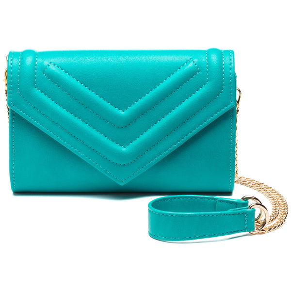 Bright And Just Right Aqua Mini Crossbody - Citi Trends Accessories - Front