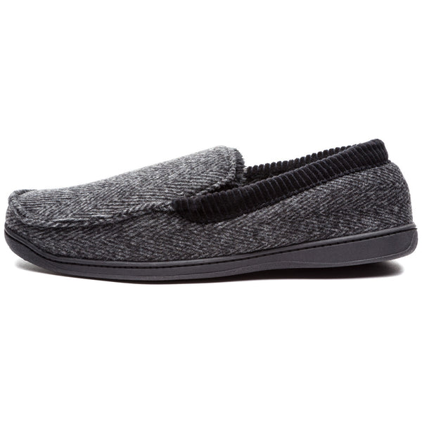 Cool To Be Cozy Mens Herringbone Moccasin Slipper - Citi Trends Mens - Side