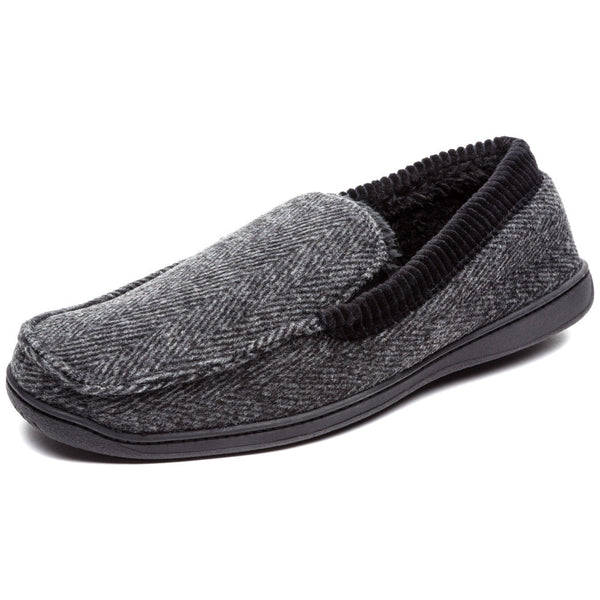 Cool To Be Cozy Mens Herringbone Moccasin Slipper - Citi Trends Mens - Front