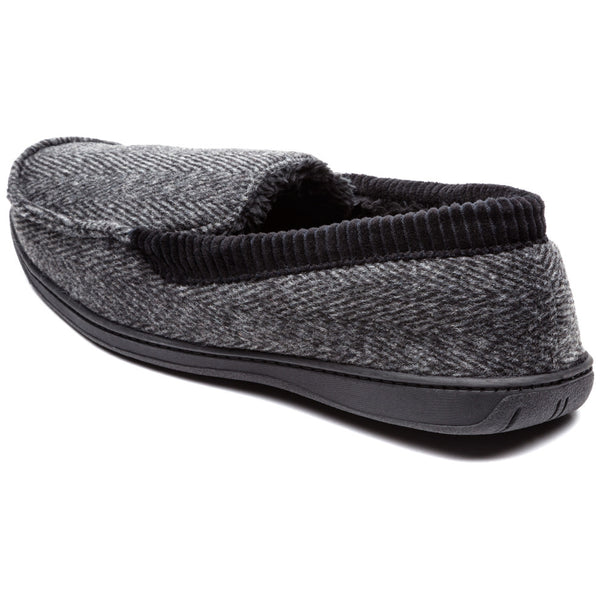 Cool To Be Cozy Mens Herringbone Moccasin Slipper - Citi Trends Mens - Back