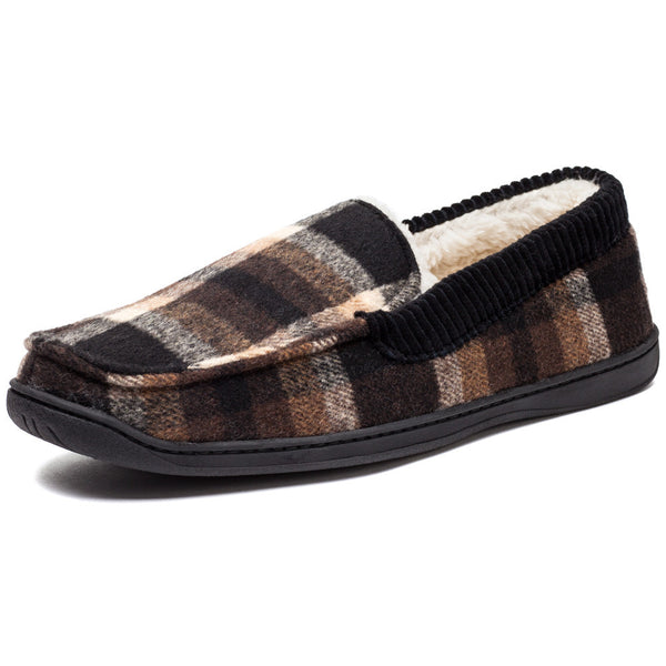 Cool To Be Cozy Mens Plaid Moccasin Slipper - Citi Trends Mens - Front