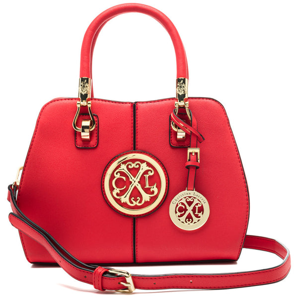 CXL by Christian Lacroix Red Faustine Convertible Satchel - Citi Trends Designer - Front