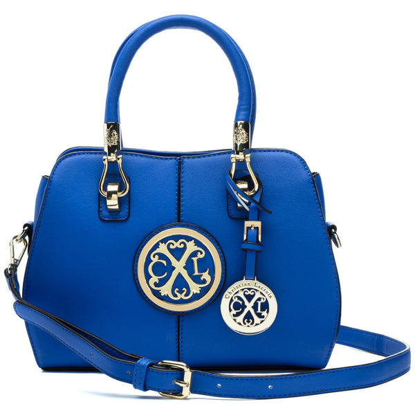 CXL by Christian Lacroix Royal Blue Faustine Convertible Satchel - Citi Trends Designer - Front