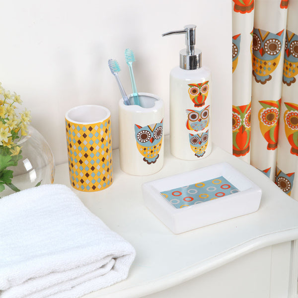 Don't Hesitate, Just Coordinate 18-Piece Owl Print Bath Set - Citi Trends Home - Crop of Objects