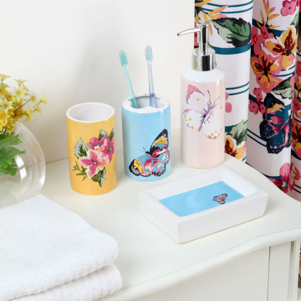 Don't Hesitate, Just Coordinate 18-Piece Floral Print Bath Set - Citi Trends Home - Crop of Objects