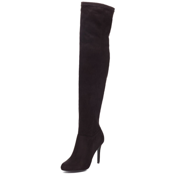 Walk The Walk Black Over-The-Knee Boot - Citi Trends Shoes - Front