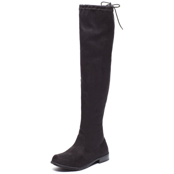 Keeping Up With The Classics Black Over-The-Knee Boot - Citi Trends Shoes - Front