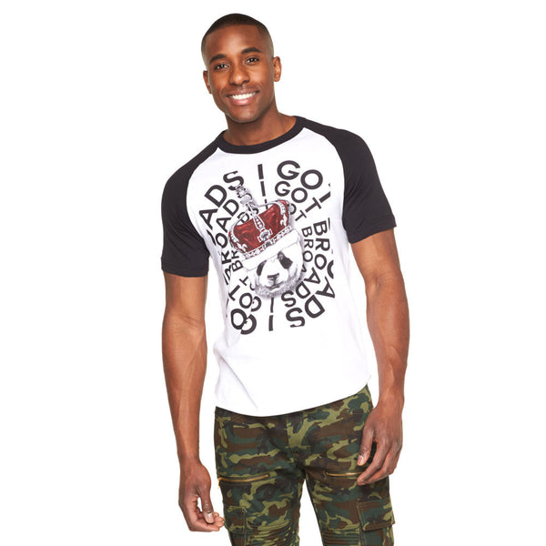 Broad City Royalty Panda Graphic Baseball Tee - Citi Trends Mens - Front