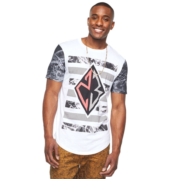 Abstract Opinion White/Grey Graphic Tee - Citi Trends Mens - Front