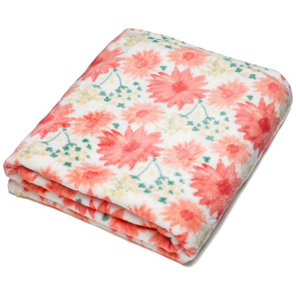 Daisy Days Floral Velvet Throw Blanket - Citi Trends Accessories - Front