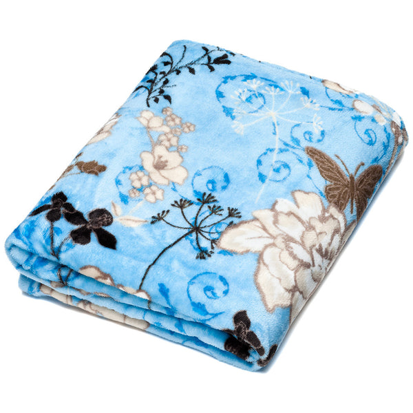 Snow Wonder Floral Velvet Throw Blanket - Citi Trends Accessories - Front