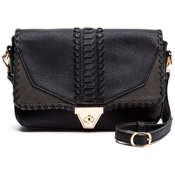 Sling Into Shape Whipstitch Crossbody - Citi Trends Accessories - Front