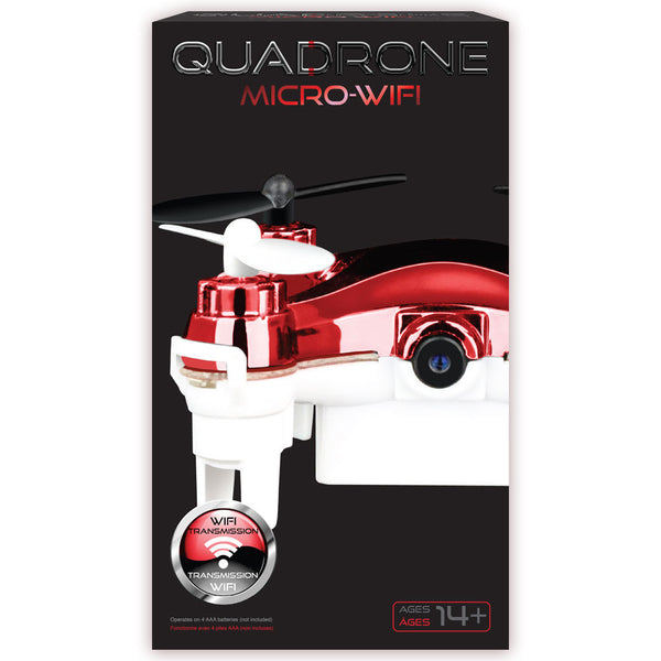 Quadrone Red/White Micro Wi-Fi Drone - Citi Trends Home - Box Front