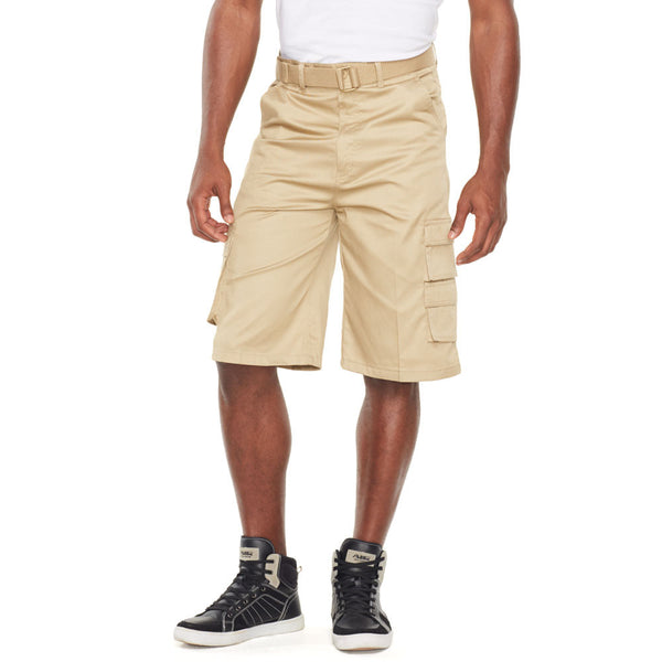 In The Pocket Khaki Belted Cargo Short - Citi Trends Mens - Front