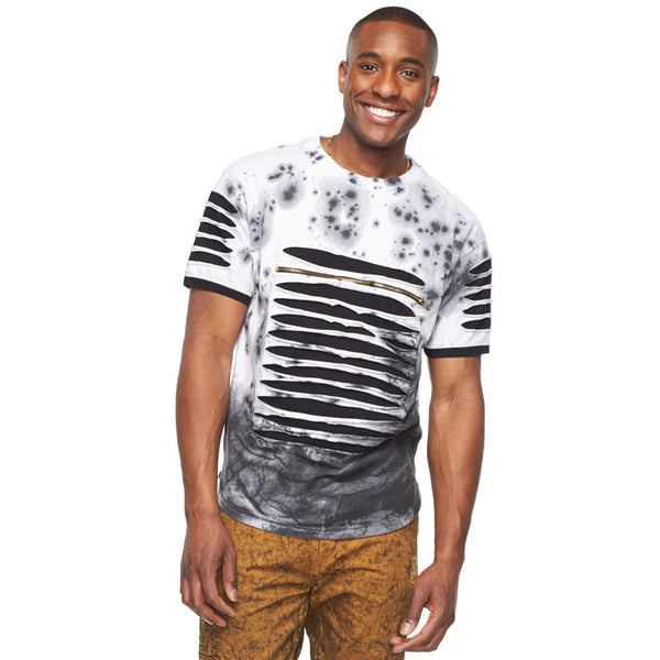 Slash To It White Acid Wash Tee - Citi Trends Mens - Front