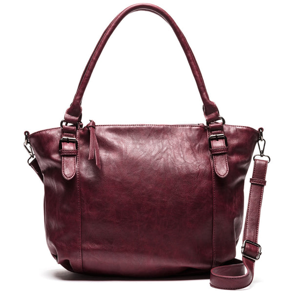Lug Of Love Burgundy Tote - Citi Trends Accessories - Front