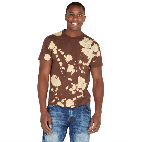 Spot Treatment Brown Acid Wash High-Low Tee - Citi Trends Mens - Front