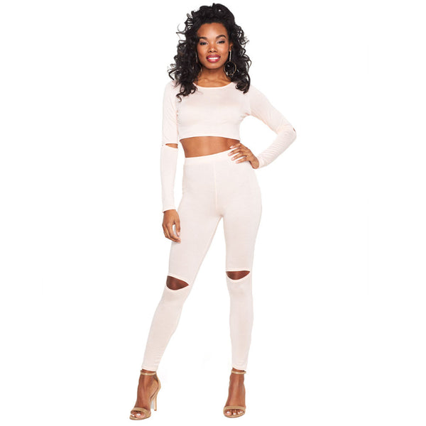 Making The Cut Blush 2-Piece High-Waist Legging Set - Citi Trends Ladies - Front