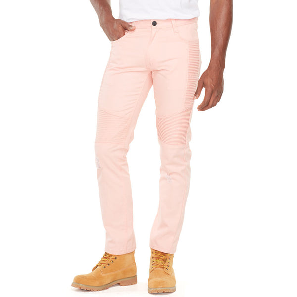 Bleach Out Dusty Rose Denim Jean - Citi Trends Mens - Front