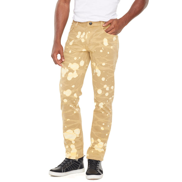 Bleach Out Khaki Denim Jean - Citi Trends Mens - Front