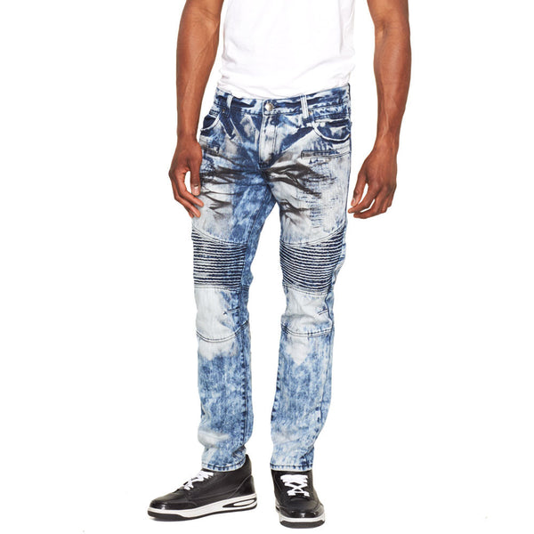 A Crinkle In Time Light Blue Rip And Repair Moto Jean - Citi Trends Mens - Front