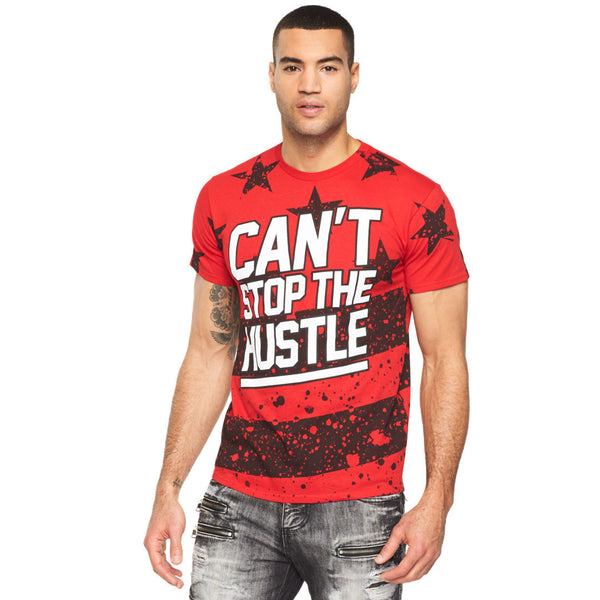 Can't Stop The Hustle Paint Splatter Graphic Tee - Citi Trends Mens - Front