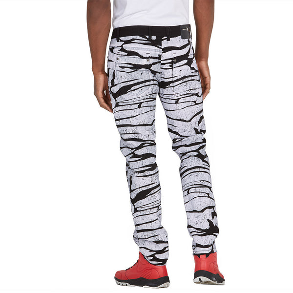 Ahead Of The Pack Black/White Painted Denim Jean - Citi Trends Mens - Back