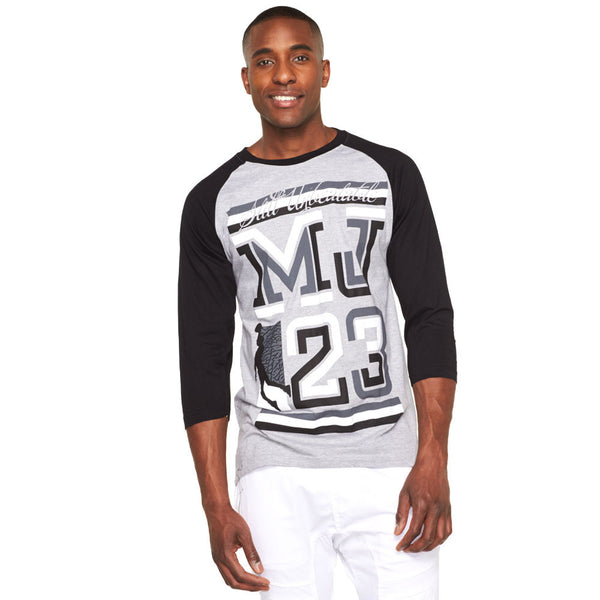 Still Unbeatable Black/Grey Graphic Baseball Tee - Citi Trends Mens - Front