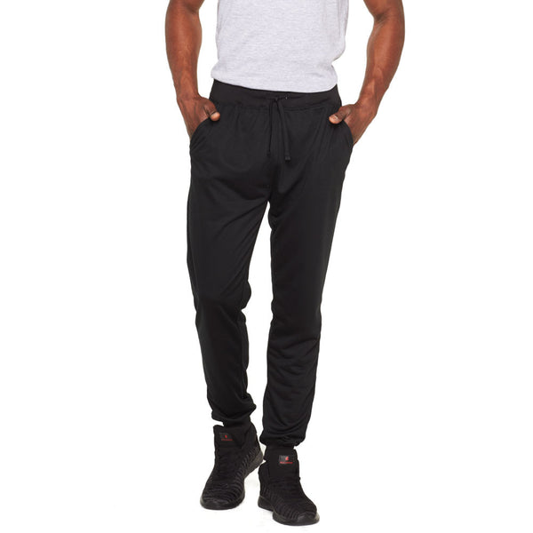 Solid Comfort Black French Terry Jogger - Citi Trends Mens - Front
