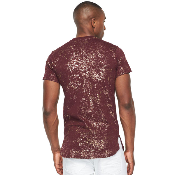 Eye See You Burgundy Metallic Gold Graphic Tee - Citi Trends Mens - Back