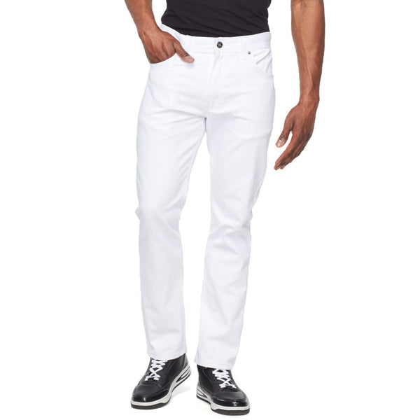 Classic Moves White 5-Pocket Jean - Citi Trends Mens - Front