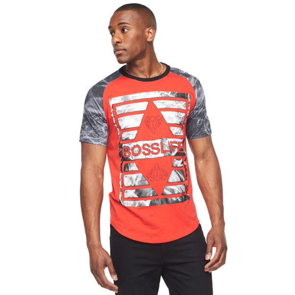 Boss Life Red/Grey Graphic Tee - Citi Trends Mens - Front