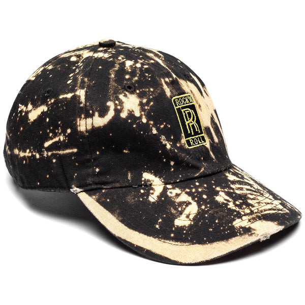 Rock N' Roll Black Bleached Baseball Cap - Citi Trends Mens - Front