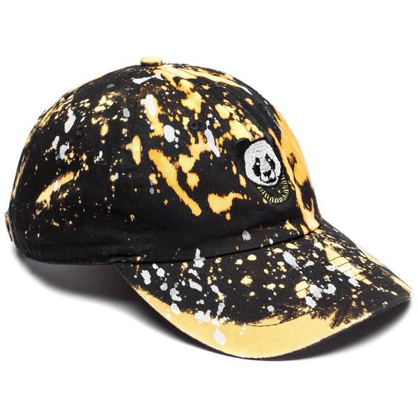 Cool-Headed Panda Black Bleached Baseball Cap - Citi Trends Mens - Front