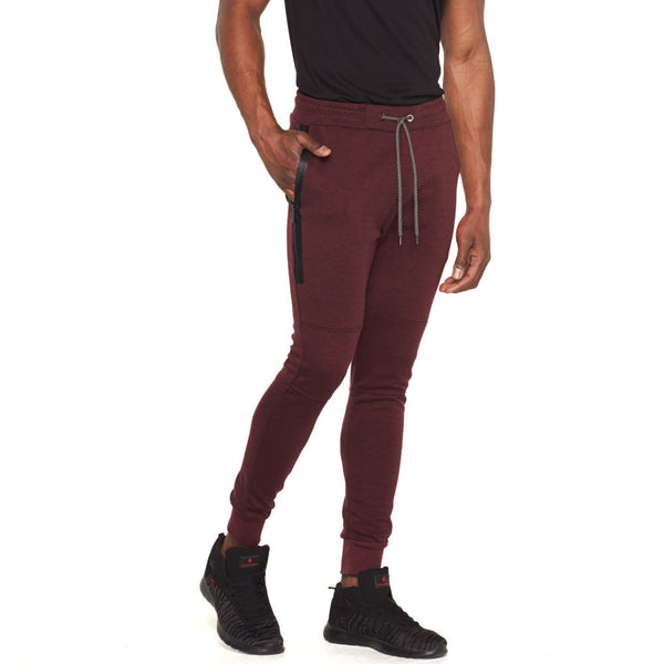 Everyday Active Burgundy Fleece Moto Jogger