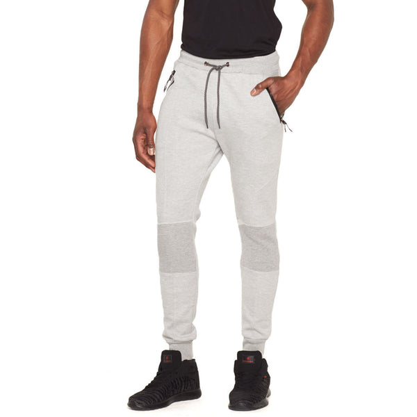 Fresh Out Heather Grey Fleece Moto Jogger - Citi Trends Mens - Front