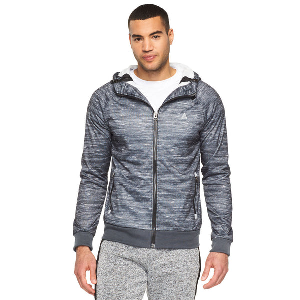 The Marl The Merrier Grey Zip-Up Hoodie - Citi Trends Mens - Front