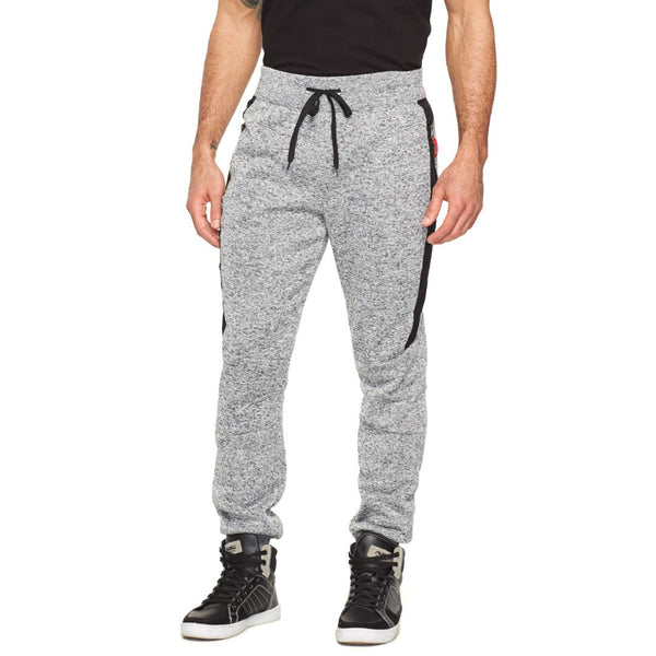 Casual-Cool Charcoal Marled Fleece Moto Jogger - Citi Trends Mens - Front