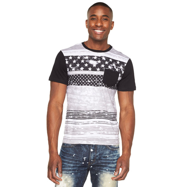Salute Your Style Paint Splatter Americana Tee - Citi Trends Mens - Front
