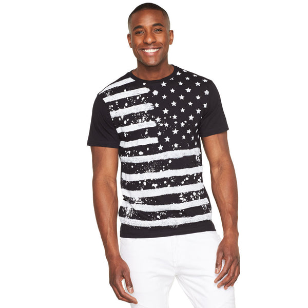 Strokes of Pride Americana Paint Splatter Tee - Citi Trends Mens - Front