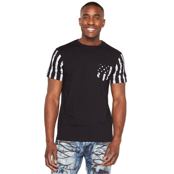 Stars And Hype Americana Paint Splatter Pocket Tee - Citi Trends Mens - Front