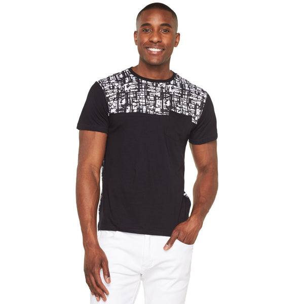 Abstract Opinion Black/White Tee - Citi Trends Mens - Front