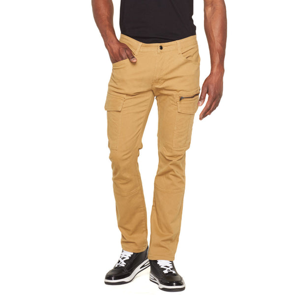 Solid Sense Wheat Cargo Pant