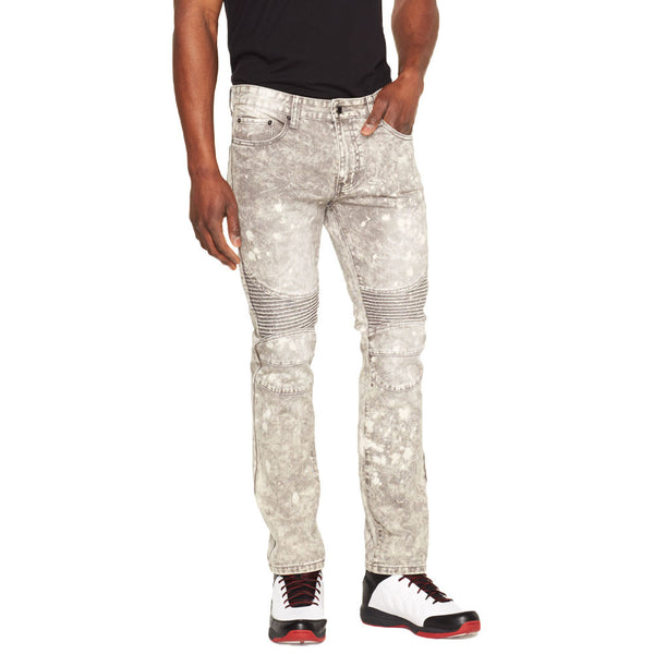 Grey-T Expectations Bleached Moto Jean - Citi Trends Mens - Front