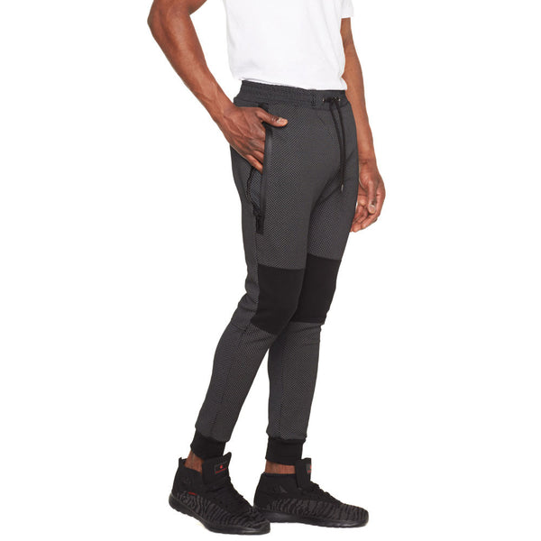 Sleek Situation Charcoal/Black Fleece Moto Jogger - Citi Trends Mens - Side
