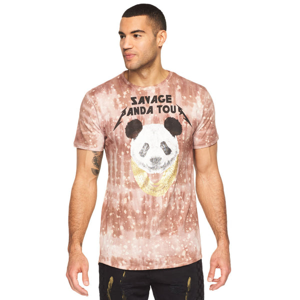 Savage Panda Tour Acid Wash Graphic Tee - Citi Trends Mens - Front