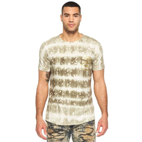 Money, Power, Respect Tie Dye Gold Foil Graphic Tee - Citi Trends Mens - Front